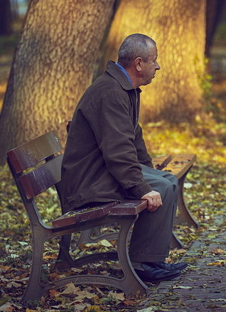 Man on Bench image
