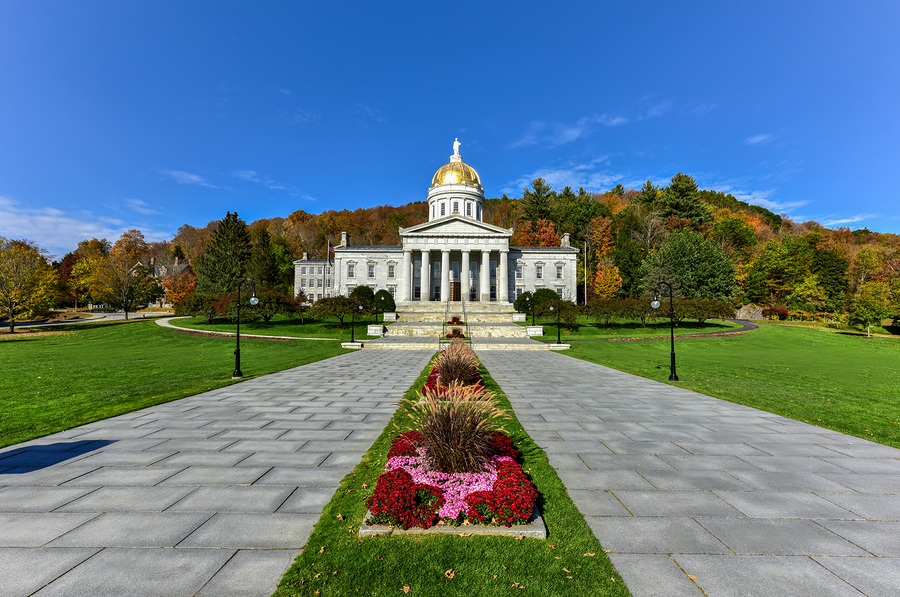State Capitol, Montpelier, Vermont, from distance